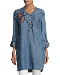 Tolani - Joselyn Chambray Tunic - Lyst