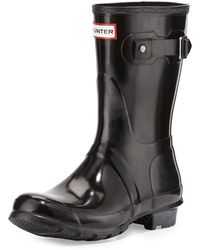 HUNTER - Original Short Gloss Boot - Lyst