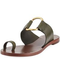 df54d44f5cea Lyst - Tory Burch Studded Star Slide in Natural