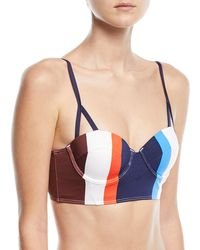 Mei L'ange - Ava Structured Striped Bustier Swim Top - Lyst