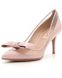 Valentino - Dollybow Patent 75mm Pump - Lyst
