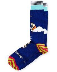 Di Pedarius - High Flying Striped Socks - Lyst