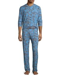 029fb0e0d1 Versace - Barocco Medusa Paisley Pajama Set - Lyst