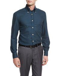 Kiton - Houndstooth Sport Shirt - Lyst