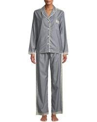 Morpho + Luna - Ines Striped Wool Classic Pajama Set - Lyst