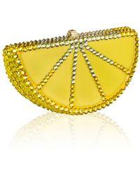Judith Leiber - Slice Crystal Pillbox - Lyst