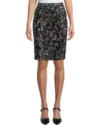 1121ea3bd Badgley Mischka - Sequined Pencil Skirt - Lyst