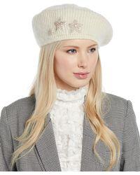 Jennifer Behr - Estrella Mohair-blend Knit Beret W/ Embellished Stars - Lyst