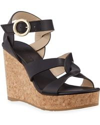Jimmy Choo - Women's Aleili 100 Platform Wedge Sandals - Lyst