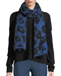 Rag & Bone - Leopard-print Mohair Rectangle Scarf - Lyst