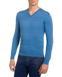 Stefano Ricci - Men's Cashmere Ribbed-stripes V-neck Sweater - Lyst