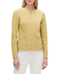 Lafayette 148 New York - Cairo Zip-front Fundamental Bi-stretch Jacket - Lyst