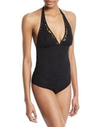 Shan - May Lace Halter One-piece Swimsuit - Lyst