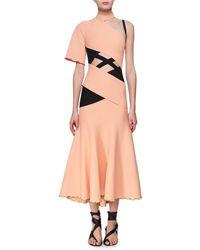 Proenza Schouler - Exposed Bandage Asymmetric Midi Dress - Lyst