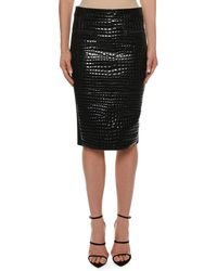 Tom Ford - Crocodile-embossed Leather Knee-length Skirt - Lyst