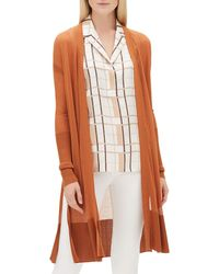 Lafayette 148 New York - Open-front Long-sleeve Semisheer Voile Duster Cardigan - Lyst