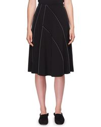 The Row - Chouli High-waist A-line Knee-length Skirt With Topstitching - Lyst