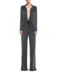 Naeem Khan - Plunging Beaded Wide-leg Jumpsuit - Lyst
