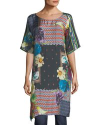Johnny Was - Mabel Long Silk Tunic - Lyst