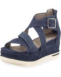 Eileen Fisher - Boost Leather Platform Sandals - Lyst