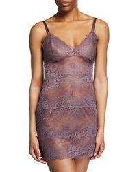 Samantha Chang - Boudoir Semisheer Lace Full Slip - Lyst
