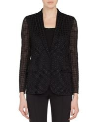 Akris - One-button Secret Curtain Embroidered Jacket - Lyst