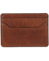 Frye | Logan Leather Card Case With Money Clip | Lyst
