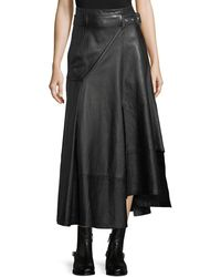3.1 Phillip Lim - Utility Long Leather Skirt - Lyst