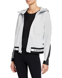 Under Armour - Move Hooded Mesh Performance Jacket - Lyst