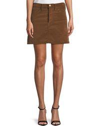 FRAME - Le Mini Stretch Corduroy Skirt - Lyst