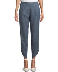 Trina Turk - Fulton Pull-on Pleated Pants - Lyst