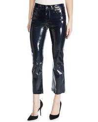 RTA - Navy Kiki Leather Pants - Lyst