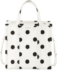 Balenciaga - Bazar Shopper Small Aj Polka Dot Tote Bag - Lyst