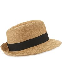 Lyst - Eric Javits Squishee Bucket Woven Hat in Natural b6e38f1ff699