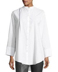 Joseph | Lenno Button-front Cotton Shirt W/ Selvedge Stripe | Lyst