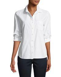Finley - Alex Parachute Taffeta Button-front Shirt - Lyst