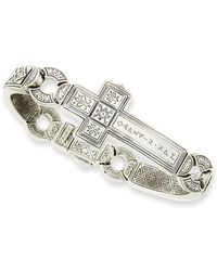 Konstantino - Men's Dare Sterling Silver Cross Bracelet - Lyst