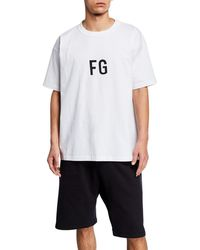 Fear Of God - Men's Logo Typographic T-shirt - Lyst