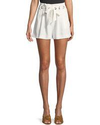 Parker - Vale Pleated Grommet Shorts - Lyst