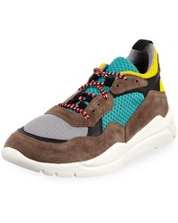 Moncler - Men's Calum Colorblock Dad Sneakers - Lyst