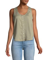 DL1961 - N6th Berry Scoop-neck Sleeveless Button-front Top - Lyst