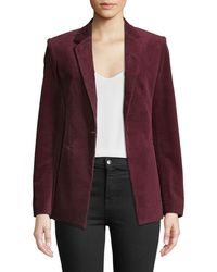 Theory - Power One-button Modern Corduroy Jacket - Lyst
