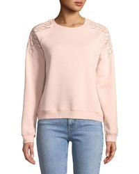 Rebecca Minkoff - Zoe Embroidered Pullover Sweatshirt - Lyst