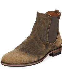 John Varvatos - Men's Fleetwood Suede Chelsea Boots - Lyst