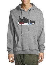 Mostly Heard Rarely Seen - Gry Sweat Hoodie W Runner - Lyst