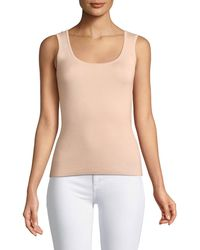 59894c0fdfa1c Michael Kors - Scoop-neck Merino silk cashmere Shell - Lyst