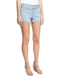 Alice + Olivia - Cady Clean-pocket Striped Shorts - Lyst