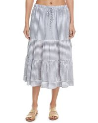 Xirena - Malone Striped A-line Coverup Skirt - Lyst