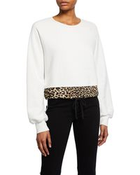 Pam & Gela - Contrast - Hem Sweatshirt - Lyst