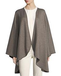 Loro Piana   Regina Leather-trim Cashmere-blend Cape   Lyst